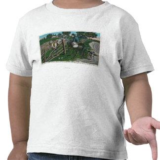 Paul Revere que informa o gerador Israel Putnam Tshirt