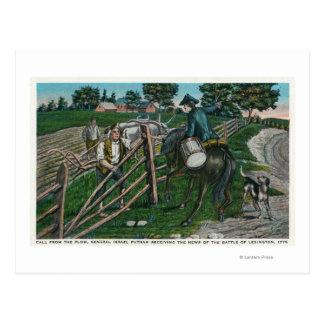 Paul Revere que informa o gerador Israel Putnam Cartão Postal
