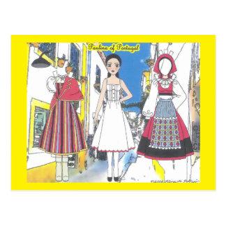 Paulina do cartão de papel da boneca de Portugal