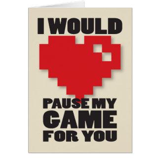 Pausa meu cartão do jogo