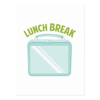 Pausa para o almoço cartoes postais