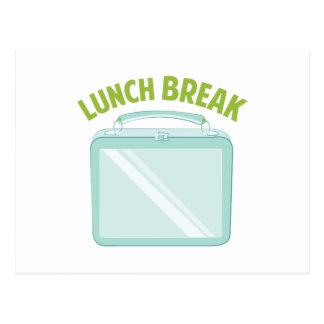 Pausa para o almoço cartão postal