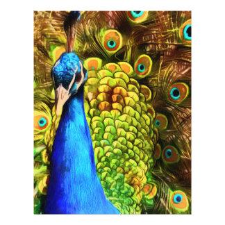 Pavão colorido flyer