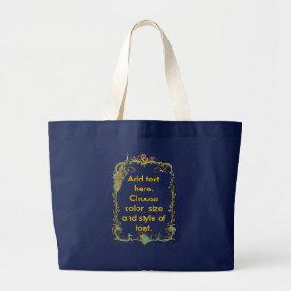 Pavão com o saco ornamentado do impressão da arte  bolsa de lona