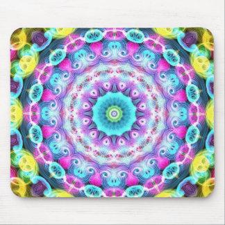 pavão de néon do arco-íris mousepad