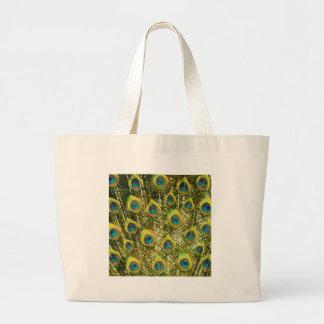 Pavão dourado sacola tote jumbo