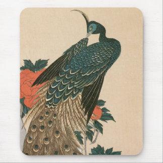 Pavão e peônias por Hiroshige, arte japonesa