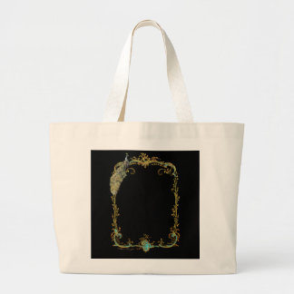 Pavão glorioso sacola tote jumbo