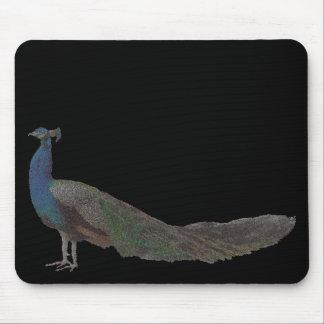 Pavão horizontal (imagem digital) mouse pad
