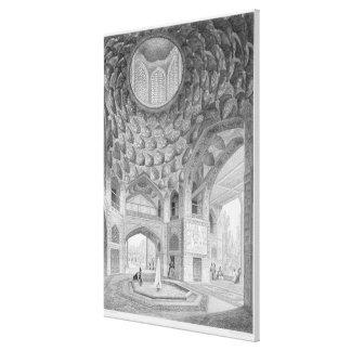 Pavilhão dos oito paraíso, em Isfahan, de Impressão Em Tela