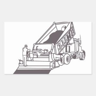 Pavimentando o esboço do caminhão adesivo retangular