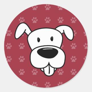Pawprints do vermelho do pitbull dos desenhos adesivo