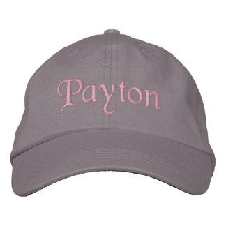 Payton bordou cinzas do rosa do chapéu do boné de