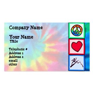 Paz, amor, alpinismo cartão de visita