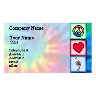 Paz, amor, avestruzes cartão de visita