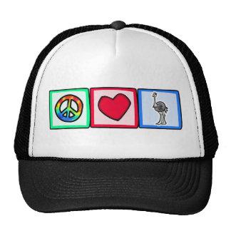 Paz, amor, avestruzes boné