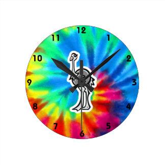 Paz, amor, avestruzes relógios de paredes