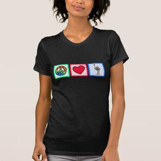 Paz, amor, avestruzes camiseta
