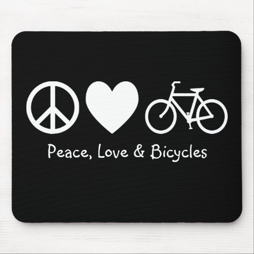 Paz, amor & bicicletas Mousepad