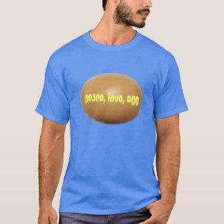 Paz, amor, camisa do ovo