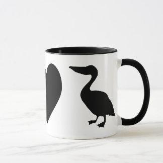 Paz, amor & caneca dos pelicanos
