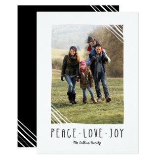 Paz, amor, cartão de Natal da alegria