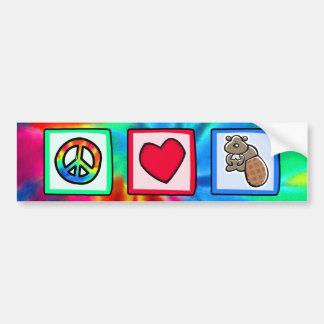 Paz, amor, castores adesivo