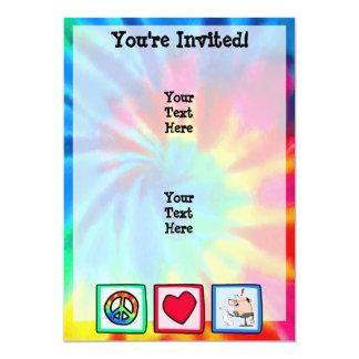 Paz, amor, contadores convites