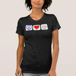 Paz, amor e alho camiseta
