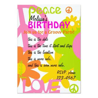 Paz, amor e partido convite 12.7 x 17.78cm