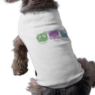 Paz, amor, e yorkshires terrier Pastel Camisa Sem Mangas Para Cachorro