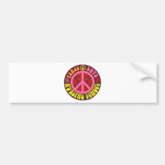 Paz, amor, escola de cuidados adesivo para carro