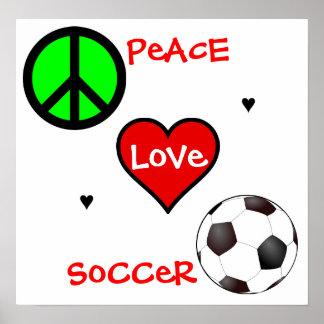 Paz, amor, futebol! Poster Pôster