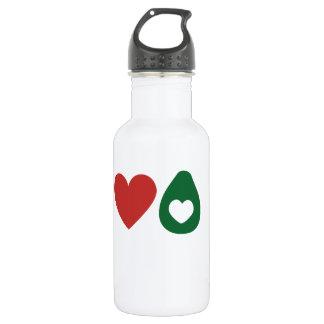 Paz, amor, garrafa do abacate