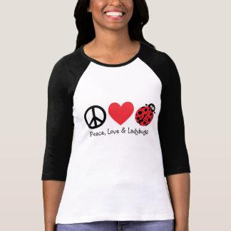 Paz, amor & joaninhas camiseta