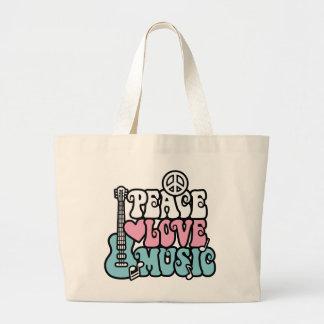 Paz-Amor-Música Bolsas De Lona