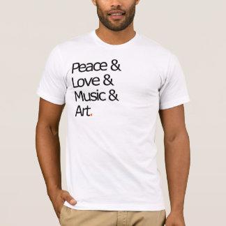 Paz, amor, música, e arte camiseta