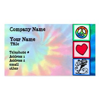Paz, amor, skate cartão de visita