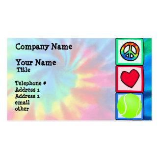 Paz, amor, tênis cartão de visita