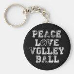 Paz, amor, voleibol chaveiro