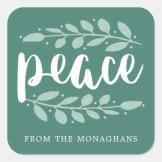 Paz astuta etiquetas personalizadas do feriado