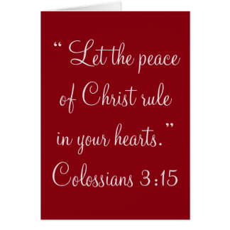 """""""Paz cartão da escritura do cristo"""""""