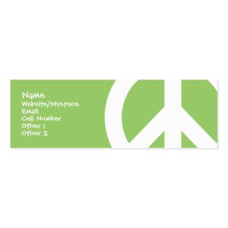 Paz Cartão De Visita Skinny