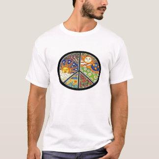 Paz com natureza camiseta