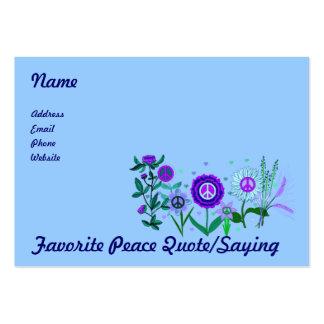 Paz crescente modelo cartões de visita
