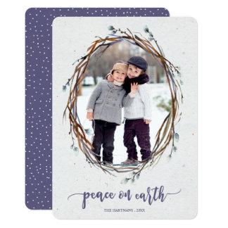 Paz da grinalda do salgueiro no cartão com fotos