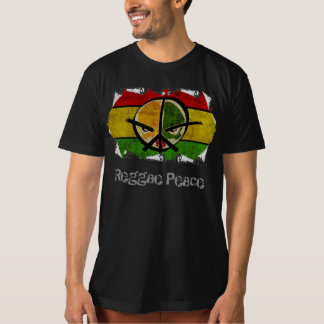 paz da reggae camiseta