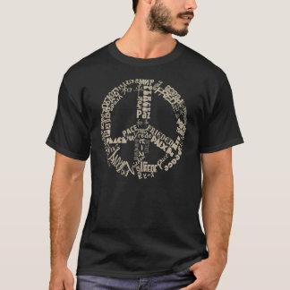 Paz de mundo camiseta