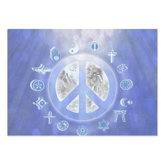 Paz de mundo cartão de visita grande