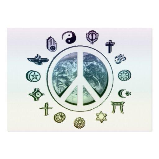 Paz de mundo cartões de visita